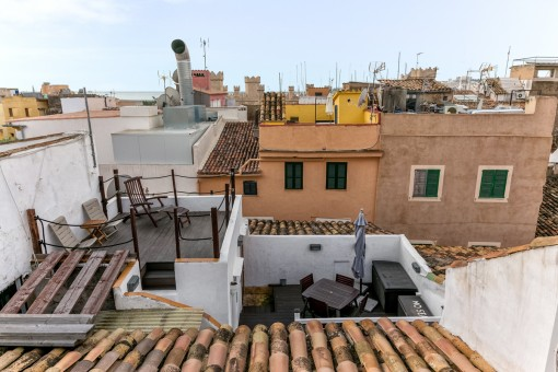 View of the roof tops of Palma