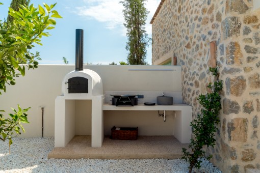 Small barbecue area