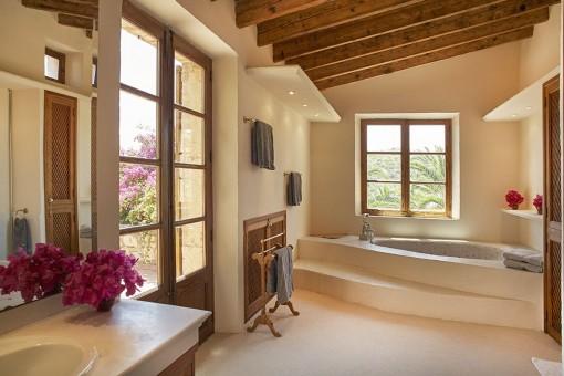 Enchanting bathroom with bathtub