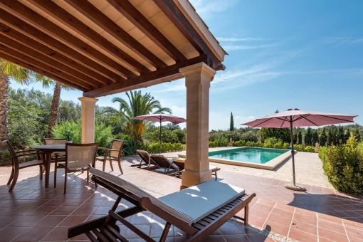 Lovely, mediterranean terrace