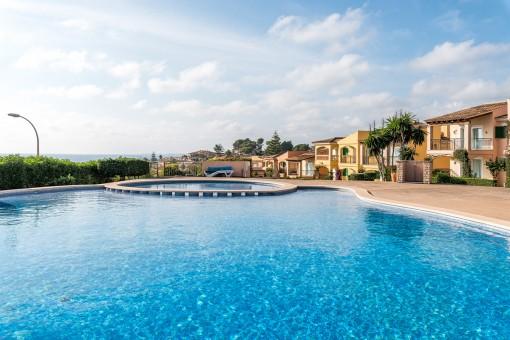 Gorgeous communal pool area