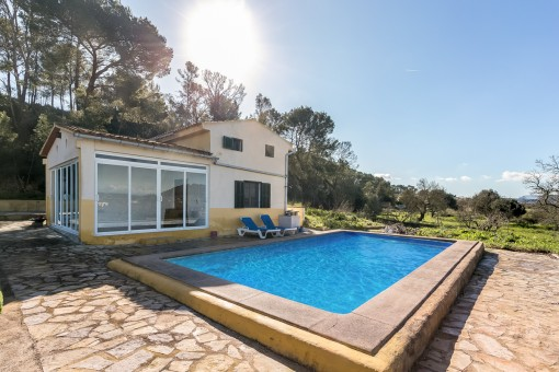 Finca in Sant Joan with lovely sweeping views and pool