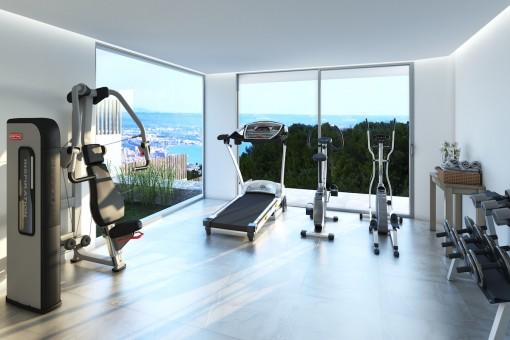 Modern fitness room
