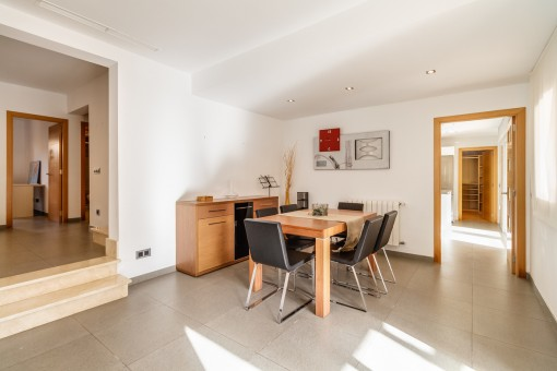 Dining area with access to the kitchen