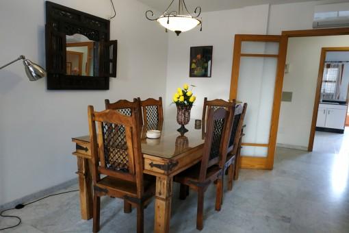 Beautiful rustic dining area
