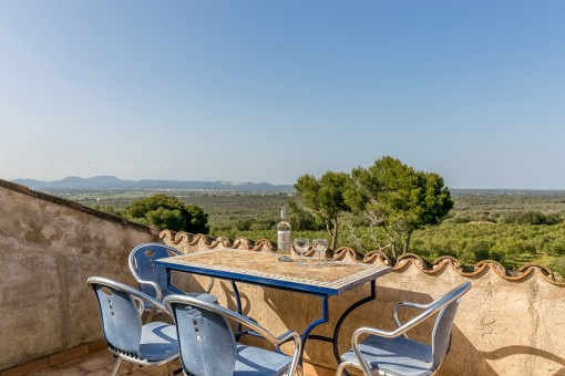 Sunny terrace with gorgeous views
