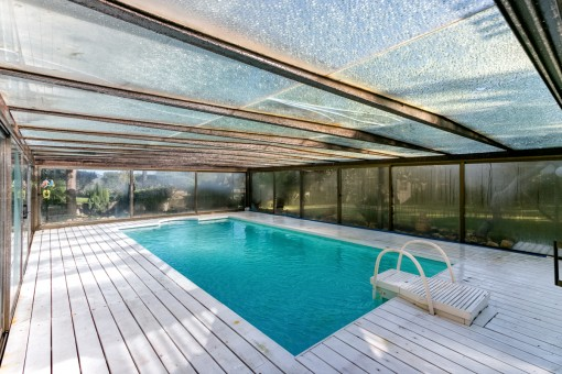 Well-maintained and heated pool