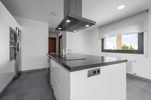 Kitchen with cooking island