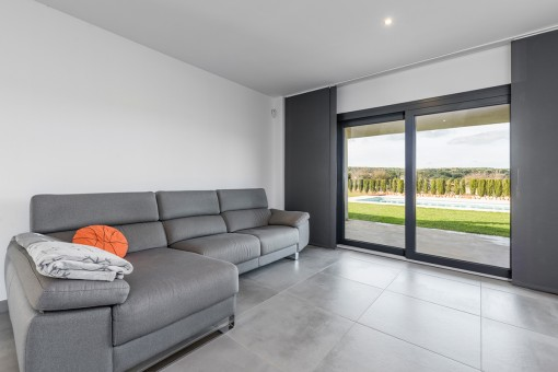 Bright living area with panoramic windows