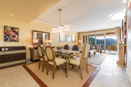 Generous living and dining area