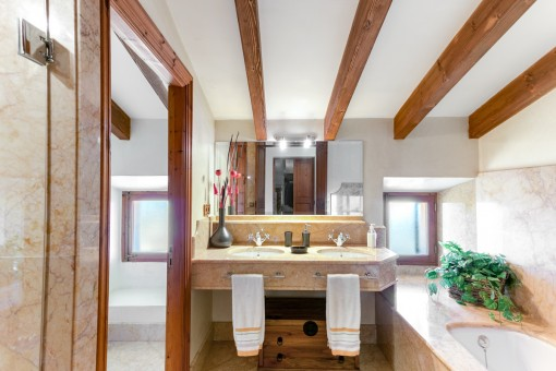 Charming bathroom with double sink