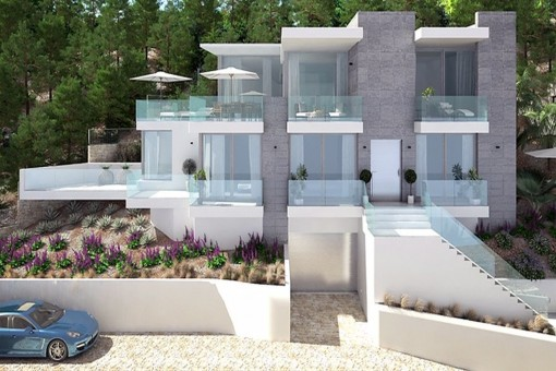 New building project with wonderful sea views in a prime location in Santa Ponsa