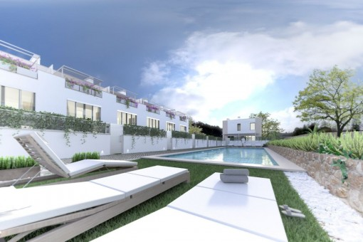 Exclusive construction project with garden area in Puerto d'Andratx