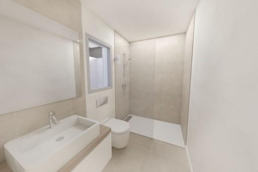Beautiful bathroom with shower