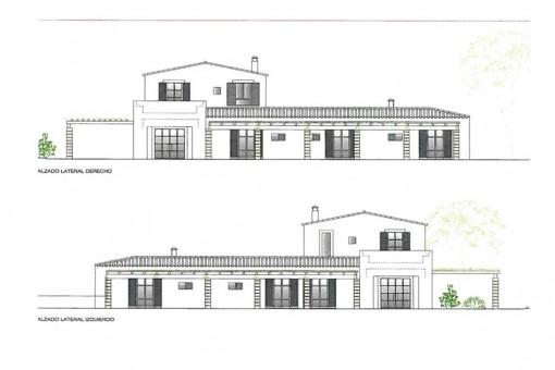 Construction plan of the finca