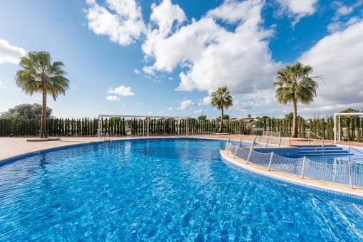 Wonderful, sunny pool area