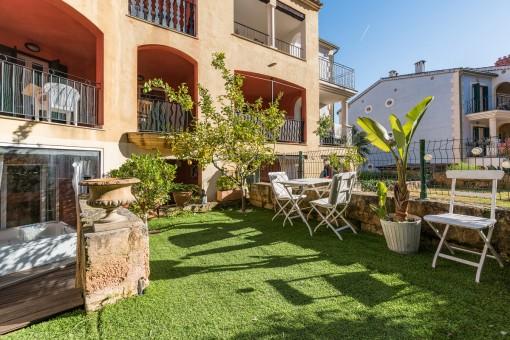 Beautiful, sunny terrace