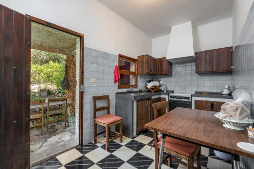 Kitchen with access to a further terrace