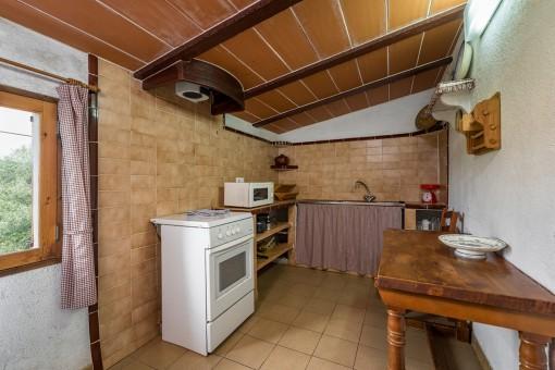 Rustic kitchen on the upper floor
