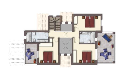 Plan of the upper floor