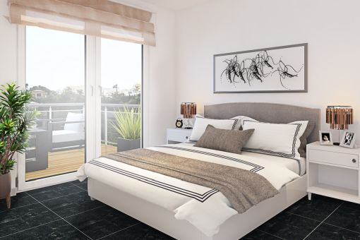 Wonderful bedroom with double bed