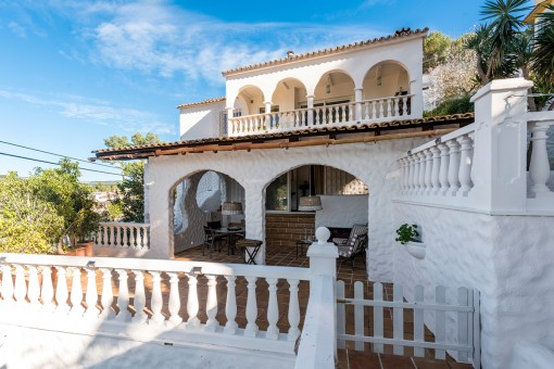 The villa provides wonderful terraces