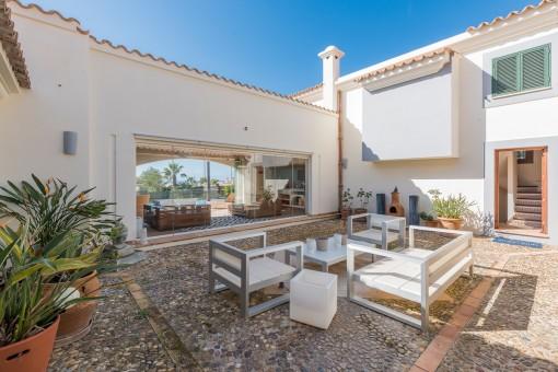 Mediterranean inner courtyard