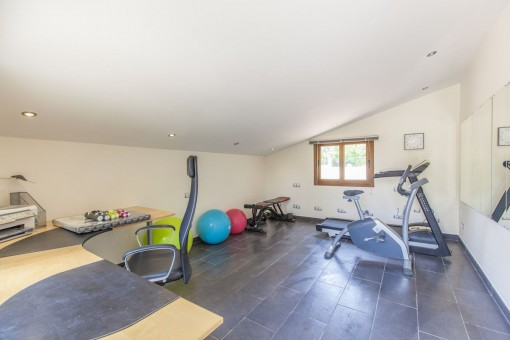 Bright fitness room