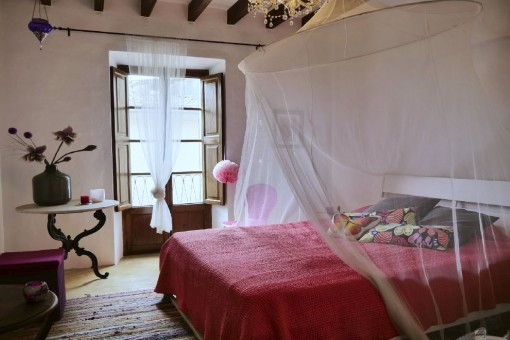 Enchanting bedroom with double bed