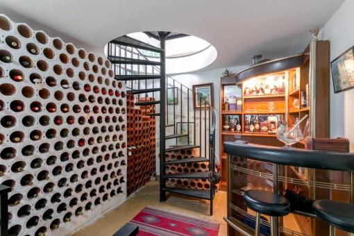 Charming wine cellar