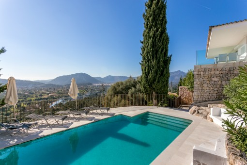 Minimalist new built villa with breathtaking views in Pollensa