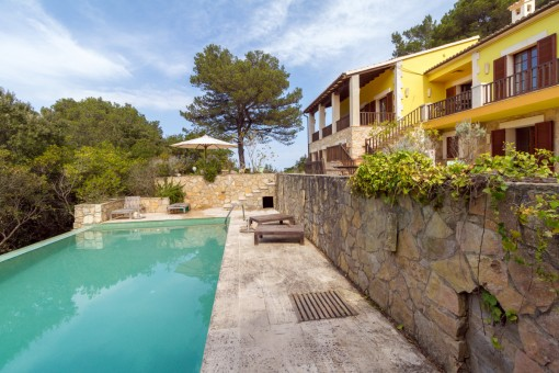 Renovated finca with sea views surrounded by nature in Valldemossa