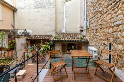 Charming terrace on the first floor
