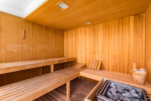 Sauna in the communal area