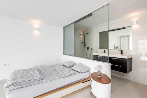 Modern and half-open bathroom