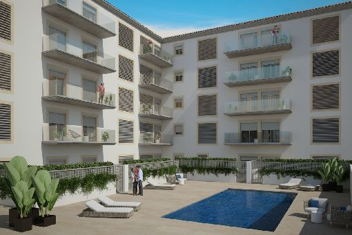 Wonderful newly-built apartment with communal pool in Llucmajor