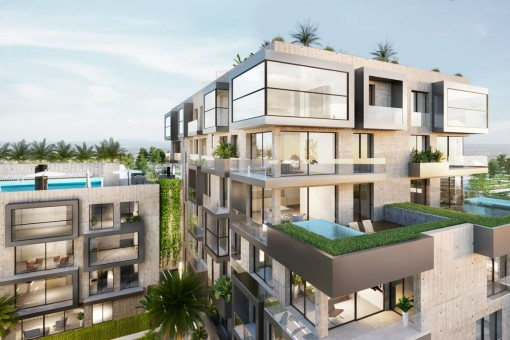 Luxury 4 bedroom apartment with beautiful south-east terrace in Nou Llevant near Palma