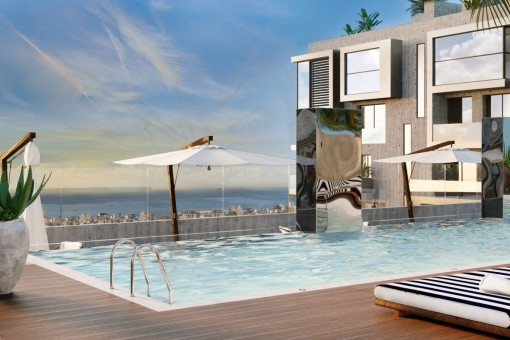 Exclusive 2 bedroom newly built apartment in a luxurious residential complex with own lift access in Nou Llevant, Palma