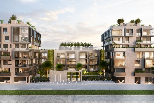 Exclusive 2 bedroom new build apartment with 2 terraces and south-west orientation in a luxury complex in Nou Llevant, Palma