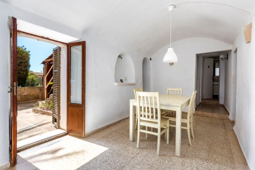 Dining area with access to the terrace