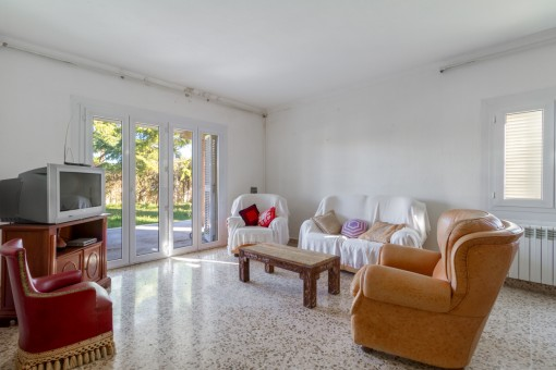 Bright living area on the ground floor