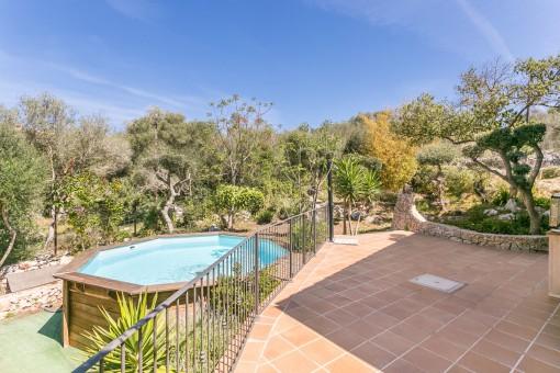 Beautiful terrace and Mediterranean garden