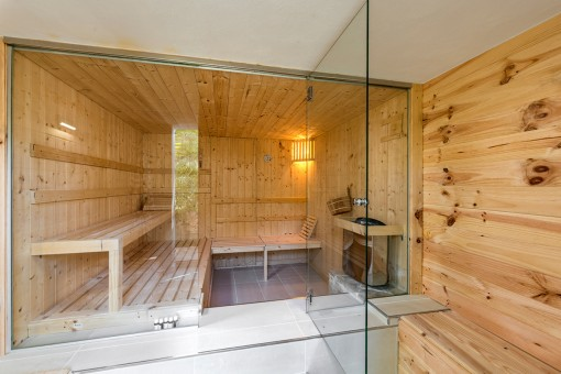 Exclusive area with sauna