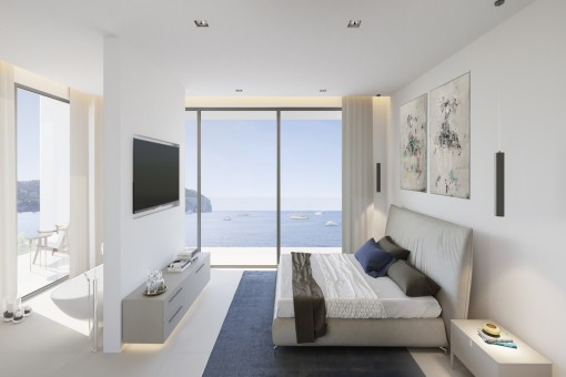 Cosy bedroom with a view