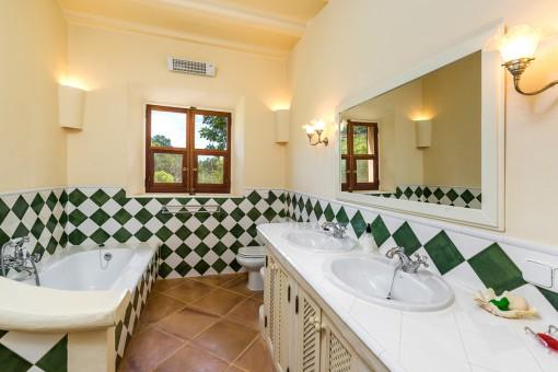 Second pool house bathroom