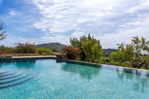 Splendid swimming pool with landscape views