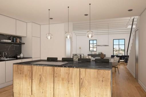 Wonderful kitchen with cooking island