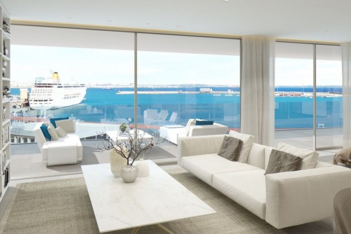 Newly-built luxury apartment on the Paseo Maritimo in Palma