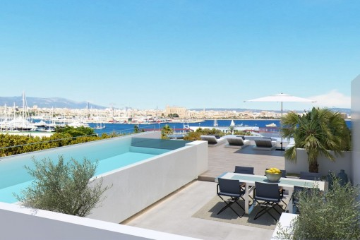 New luxury apartment with sea views closed to Porto Pi in Palma