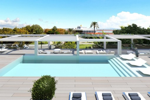 Penthouse with seaview and pool on the roof-purchase